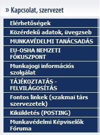 Munkavédelmi képviselők képzése PM munkavedélmi főosztály menü - Vegyiprop.hu